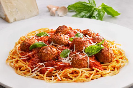 Cary, NC: spaghetti with meatballs