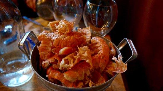 Stokkseyri, Island: Langoustines are always on the menu by the bucket full!