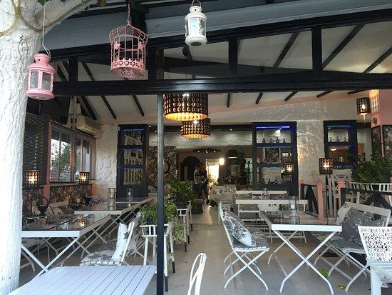 Λωτός: Lotos interior, view from outdoor tables