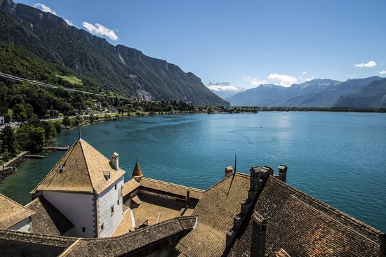 On top of Chateau de Chillon