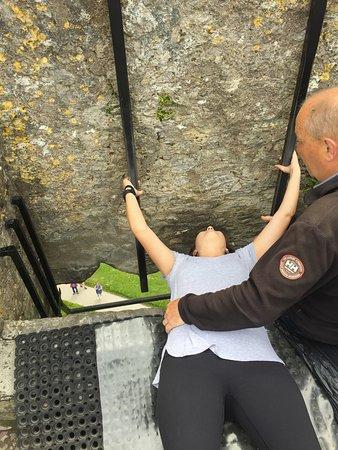 Kiss me I'm Irish at the Blarney Stone.