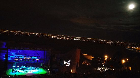 Morrison, CO: Joe Bonamassa concert with a full moon! AWESOME!!!!!