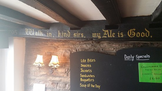 "Monmouth, UK: Inside there is a full rhyme ""Walk in, kind sirs, my Ale is Good. And take a pot with Robin Hood"