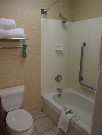 Crystal Inn Hotel & Suites Midvalley - Murray: Shower and Toilet