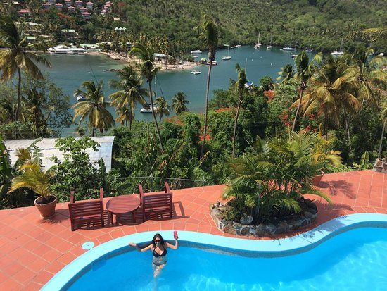 Marigot Palms Luxury Caribbean Guesthouse and Apartments: Amazing views!