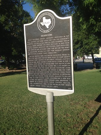 Grapevine, TX: Historical markers are at numerous places
