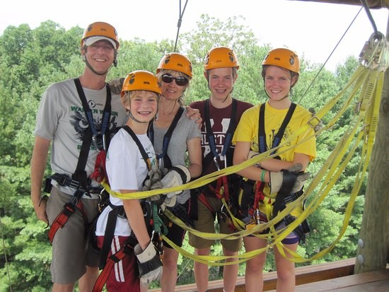 Asheville Zipline Canopy Adventures : on top of the tower
