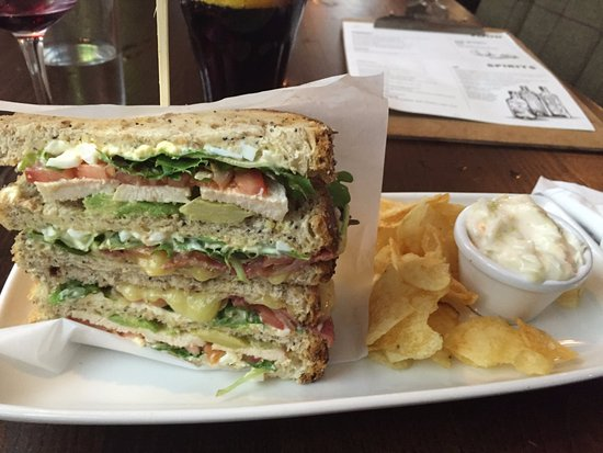 Chicken And Avocado Club Sandwich Picture Of The City Of Quebec