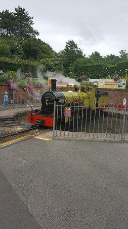 Ravenglass, UK: miniture railway one of many steam engines