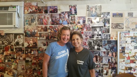 Stilesboro Biscuits: me and Lynn, the owner of 23 years. She's a pistol!!