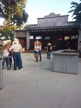 Bandera, TX: Dancing to the band.