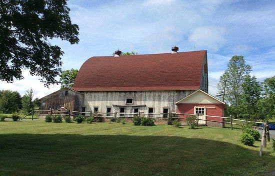 Margaretville, NY: Old barn is in great shape, looks fine.