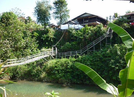 Champa Lao: Vue de notre bungalow