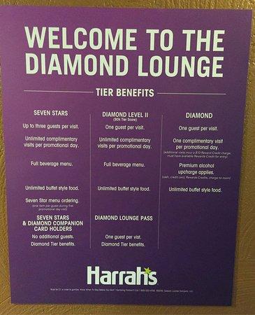 Harrah's Laughlin: New Diamond Lounge Rules, effective July 2016.