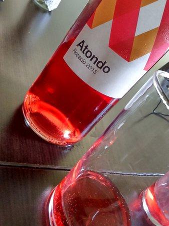 Arbizu, İspanya: El vino del menú, un rosado joven de Navarra... Excelente!!!