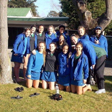 Rangiora Lodge Motel: Team Photo near playground