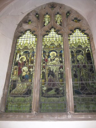 Tenterden, UK: Stained glass during the day