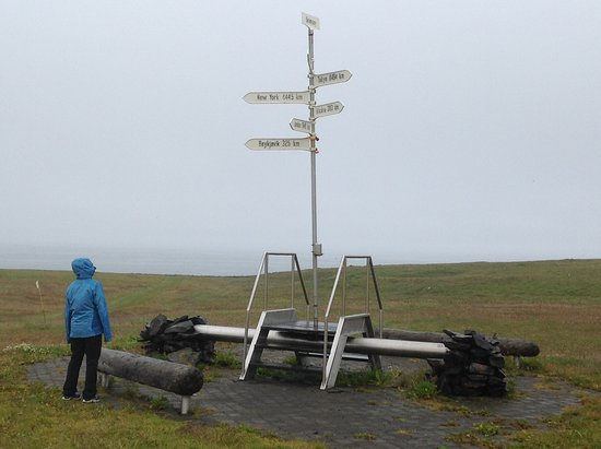 Arctic Circle marker on Grimsey Island, Iceland