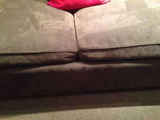 Clarion Hotel Cork: Worn, dirty couch