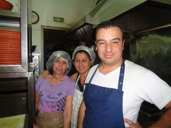 Ellados Gefsis : The chef and cooking staff at Skiathos. Thank you!!!