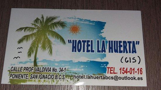 San Ignacio, Μεξικό: Hotel La Huerta