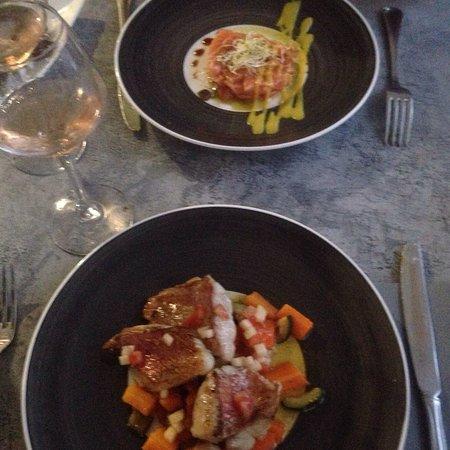 Chassieu, فرنسا: Rougets,gravlax de saumon, onglet de veau : raffinés et savoureux
