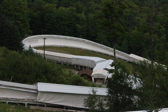 Bobsled and Luge Complex: View from top of mountain