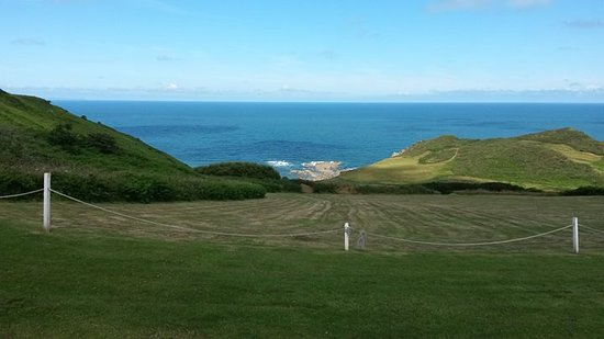 Mortehoe, UK: View from our tent.