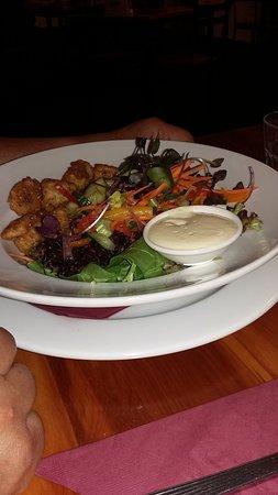 Stewart Island, نيوزيلندا: crevette et crudités