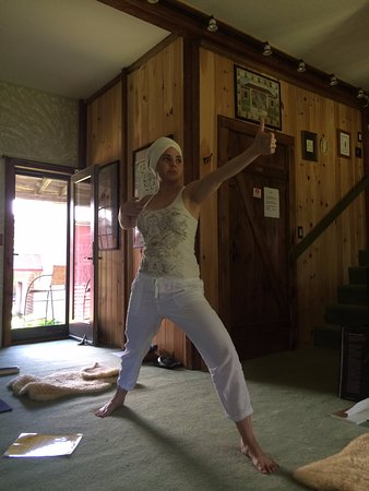 Island Falls, ME: teaching Kundalini yoga at the studio