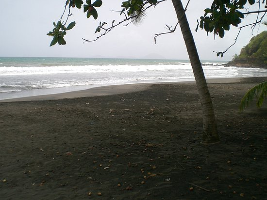 Trois Rivieres, Guadalupe: Black sand at Troi-Rivieres