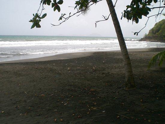 Trois Rivieres, กวาเดอลูป: Black sand at Troi-Rivieres