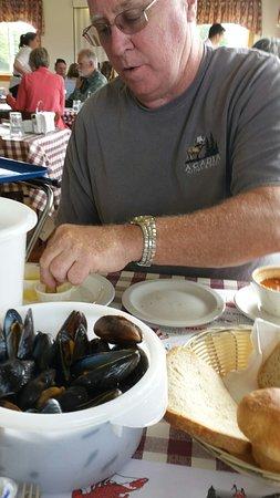 New Glasgow, Καναδάς: Mussels.