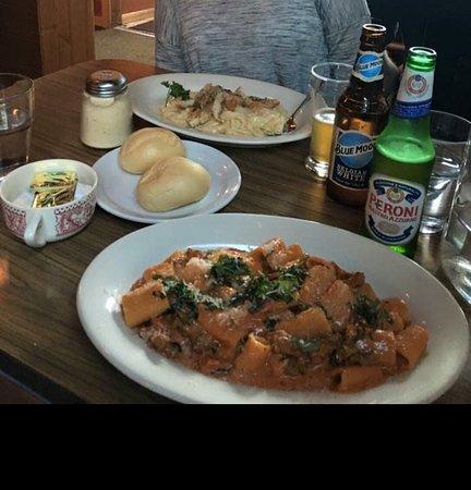 Hancock, MI: Chicken fettuccine & Sausage Rotini