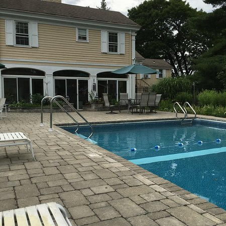 Lee, MA: View from the pool area.