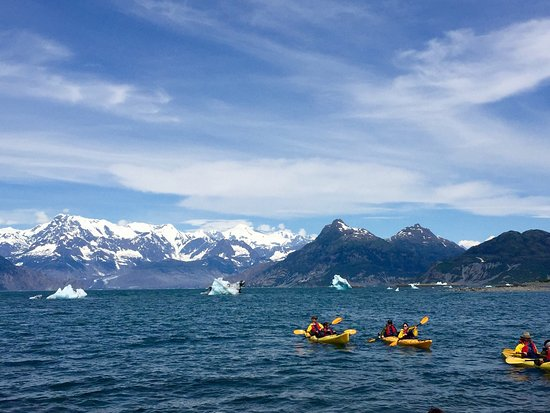 Valdez, AK: Paddled all the way to Columbia glacier