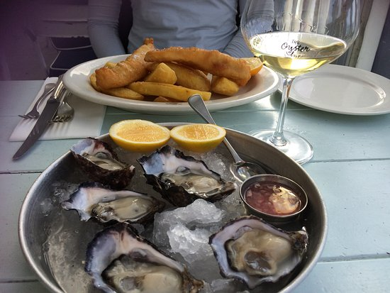 Oneroa, Nueva Zelanda: Great Oysters and Fish and Chips.