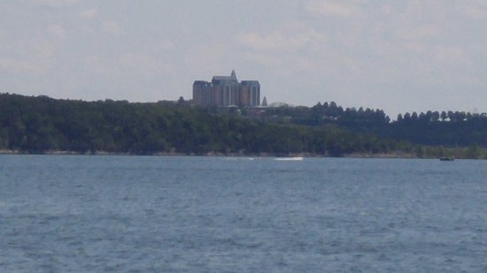 Table Rock Lake: From Indian Point looking across to the Chateau on the Lake Resort.