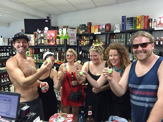 Fun time at Uvita Discount Liquor Store #HappyYou #HappyMe #HappyFamily