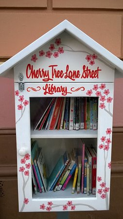 Maryborough, Avustralya: Little Library right outside the cafe.