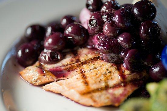 Duke's Chowder House: Duke's Oh So Blueberry & Goat Cheese Wild Alaska Salmon