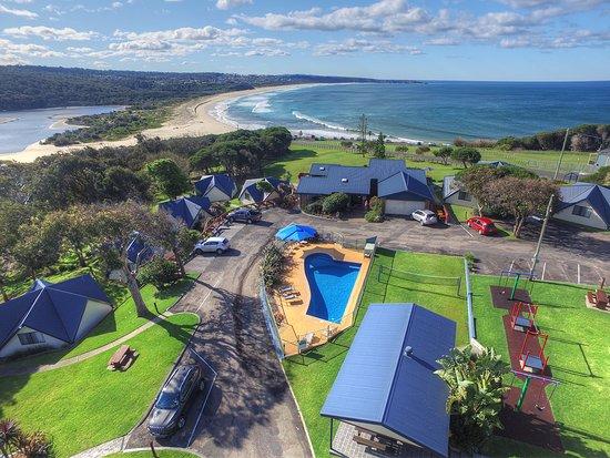 Beach Cabins Merimbula: Prime Beachfront location in Merimbula
