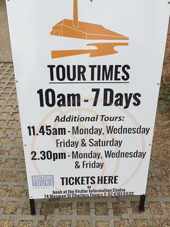 Charters Towers, Australien: Make sure that you pay attention to the tour times. I didn't and hence missed the tour - so will