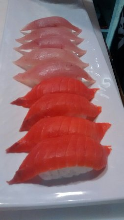 Port Hardy, Kanada: We use albacore tuna and wild sockeye salmon. Many appetizers to choose from or try a Bento box