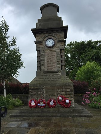 The War Memorial Clock Tower in Hinderwell