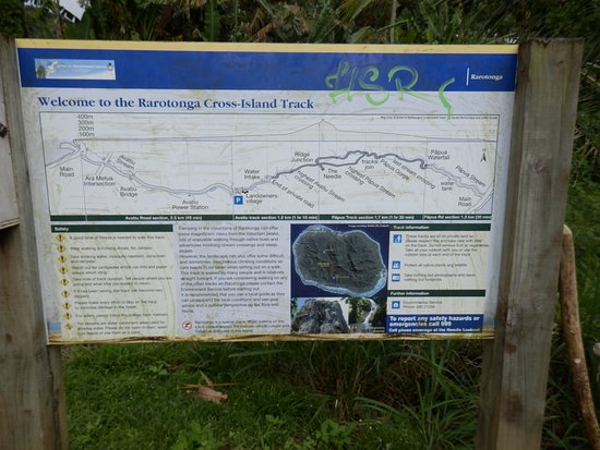 Te Rua Manga (The Needle): Sign at Start of Walk ( by Powerstation )