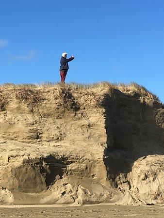 Coopers Beach, Nueva Zelanda: Ninety Mile beach - and dune vantage point
