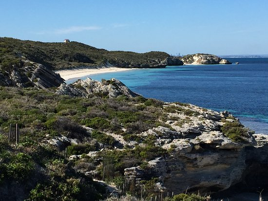 Rottnest Island, Australia: You will see bays like this all the way around Rottnest