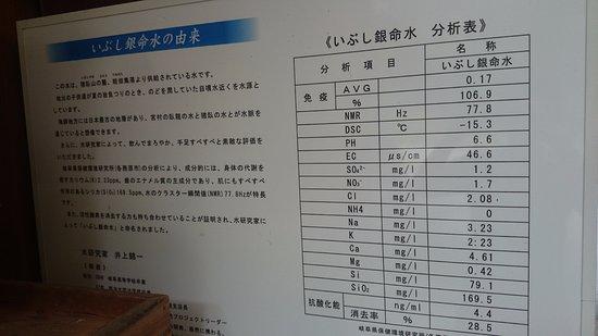 Hida, Japan: 成分分析表もありました