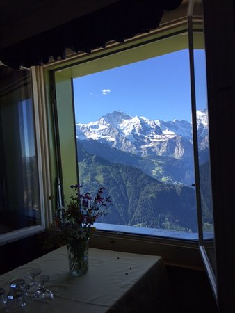 Wilderswil, Suiza: Chambre vue montagne